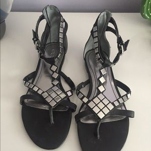 Guess Sandals Black and Silver - Size 8